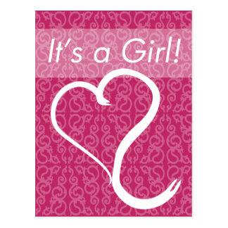 It s a Girl Custom Birth Announcement Postcard