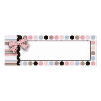It s a Girl Skinny Gift Tag 2 Business Card