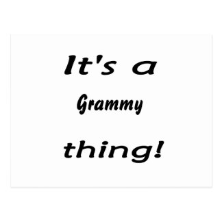 It s a grammy thing post card