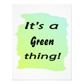 It s a Green thing Custom Announcements