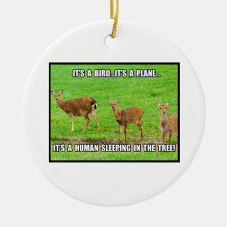 It s a Human Sleeping in the Tree Christmas Ornaments