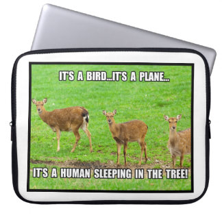 It s a Human Sleeping in the Tree Laptop Computer Sleeves