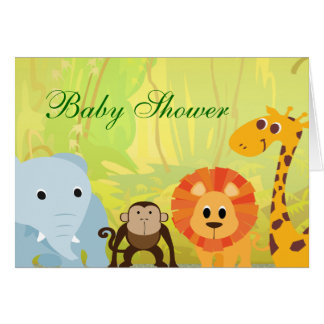 It s A Jungle Baby Shower Card