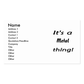 It s a metal thing business card templates