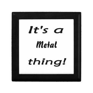 It s a metal thing keepsake box
