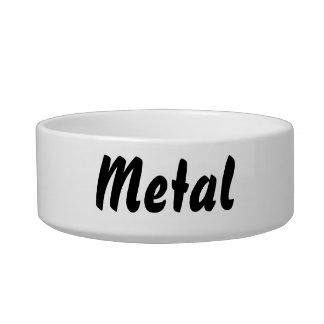 It s a metal thing pet bowl