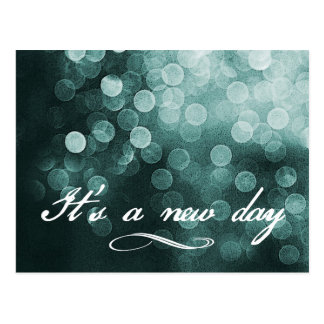 It s a New Day Bokeh Design Postcards
