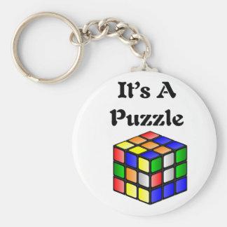 It s A Puzzle cube Key Chains