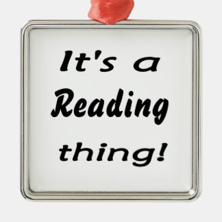 It s a reading thing ornaments