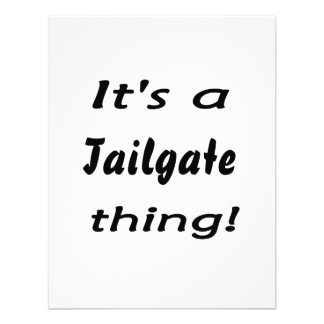 It s a tailgate thing announcement