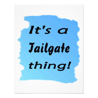 It s a tailgate thing invitation