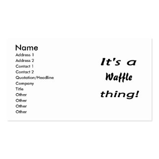 It s a waffle thing business card templates
