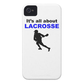 It s All About Lacrosse iPhone 4 Case-Mate Case