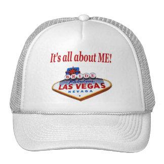 It s all about ME Las Vegas BRIDE Cap Hats