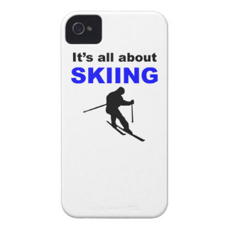 It s All About Skiing Case-Mate iPhone 4 Case