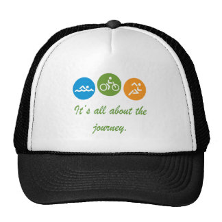 It s all about the journey - Triathlon Trucker Hat