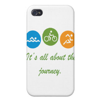 It s all about the journey - Triathlon Cases For iPhone 4