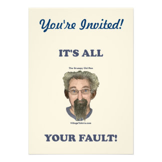 It s All Your Fault Personalized Announcement