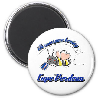 It's awesome being Cape Verdean 6 Cm Round Magnet