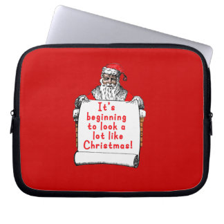 It s Beginning to Look a lot like Christmas Laptop Sleeve