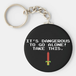 It's Dangerous To Go Alone Take This Key Chain