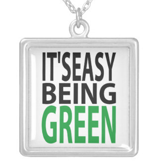 it s easy being green personalized necklace