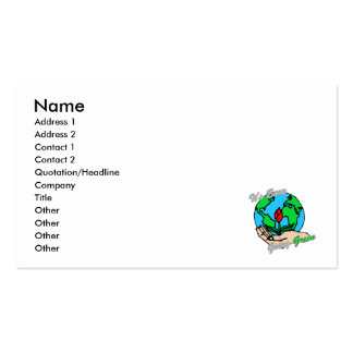 It s Easy Going Green Planet 2 Business Cards