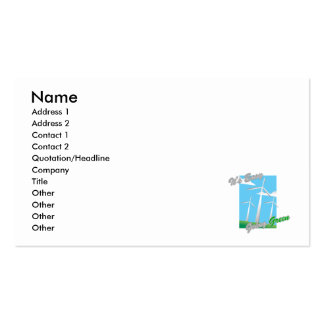 It s Easy Going Green Windmills 2 Business Card