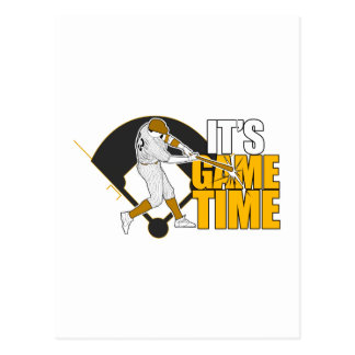 It s Game Time - Baseball Yellow Post Cards