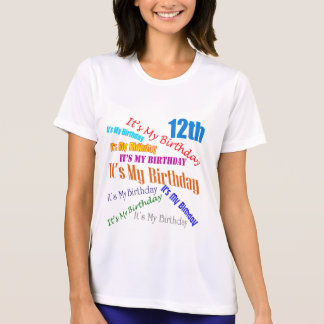 It s My 12th Birthday Gifts Tee Shirts