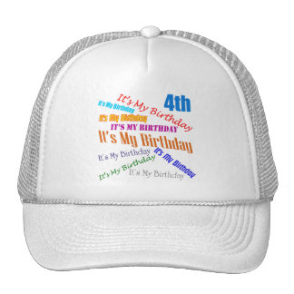 It s My 4th Birthday Gifts Hats