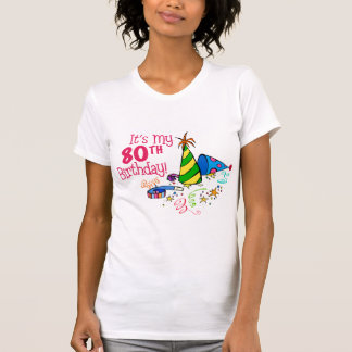 It s My 80th Birthday Party Hats Shirt