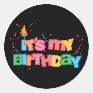 It s My Birthday Letters Sticker