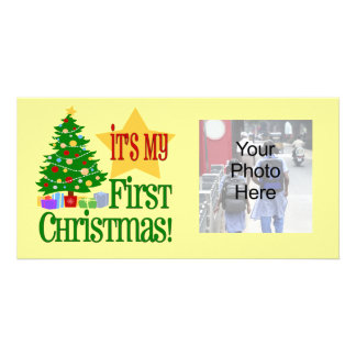 It s My First Christmas Holiday Baby Photo Cards