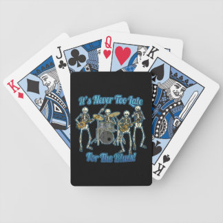 It s never too late for the blues deck of cards