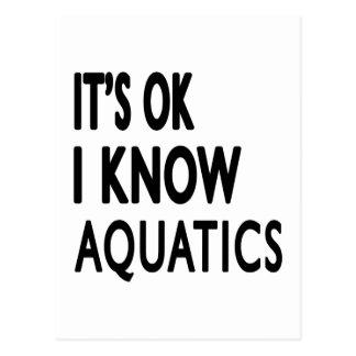 It s OK I Know Aquatics Dance Postcard