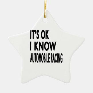It s OK I Know Automobile Racing Dance Ornament