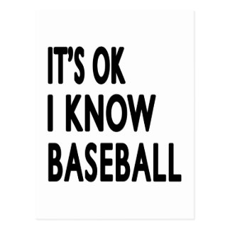 It s OK I Know Baseball Dance Post Cards