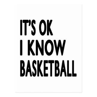 It s OK I Know Basketball Dance Postcard
