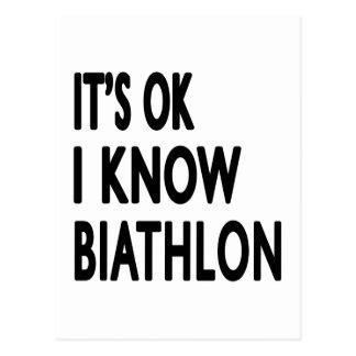 It s OK I Know Biathlon Dance Post Cards
