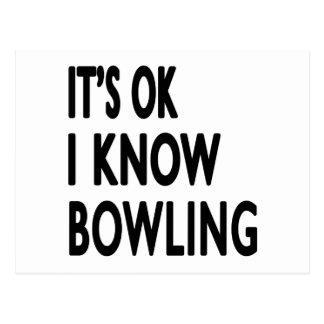It s OK I Know Bowling Dance Postcard