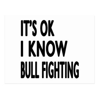 It s OK I Know Bull Fighting Dance Post Cards