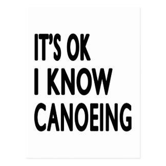 It s OK I Know Canoeing Dance Postcards