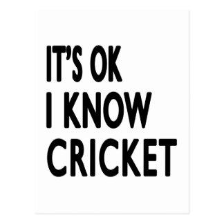 It s OK I Know Cricket Dance Postcards