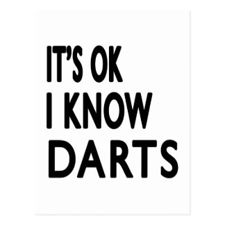 It s OK I Know Darts Dance Postcards