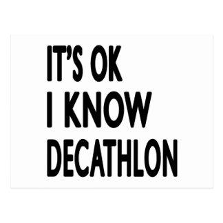 It s OK I Know Decathlon Dance Post Card