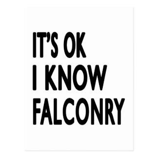 It s OK I Know Falconry Dance Postcard