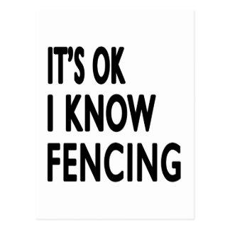 It s OK I Know Fencing Dance Postcards