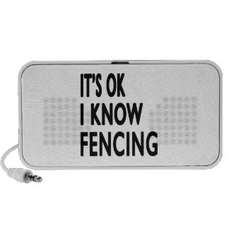 It s OK I Know Fencing Dance Portable Speakers