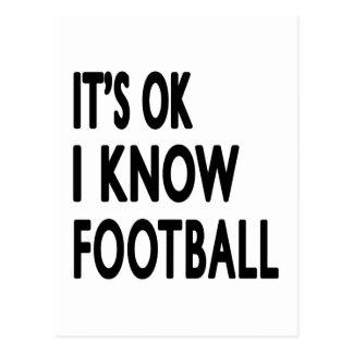 It s OK I Know Football Dance Postcards